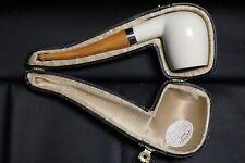 Classic Meerschaum Pipe Hand Carved Block Turkish Meerschaum With Case