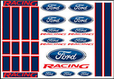 1:64 SCALE HOT WHEELS RACING STRIPES FORD RACING WATERSLIDE DECALS