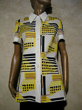CHIC VINTAGE TUNIQUE 1970 VTG TUNIC MOD GRAPHIC 1970s SEVENTIES RETRO (40)