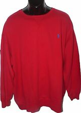 NWT POLO RALPH LAUREN 3XB red pullover crew neck sweatshirt logo XXXL Big mens