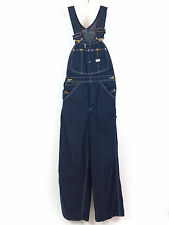 "Vintage Lee Denim Overalls Union Made In USA 26"" Waist  28.5"" Inseam"