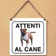 Old English Bulldog 2 Attenti al cane Targa cane cartello ceramic tiles