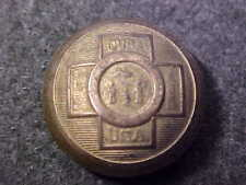 VERY RARE 11/16 BRASS SPANISH AMERICAN WAR VETERAN UNIFORM COAT BUTTON COVER