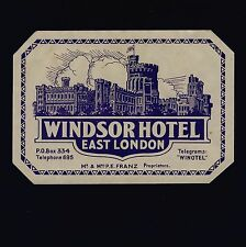 Windsor Hotel LONDON England Great Britain * Old Luggage Label Kofferaufkleber