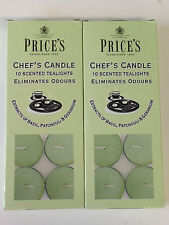 20 PRICES CHEFS SCENTED TEALIGHT TEALIGHTS CANDLE CANDLES ELIMINATES ODOURS