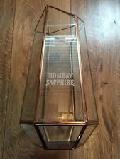 Bombay Sapphire Glass / Metal Presentation Bottle  Gift Case Display Advertising
