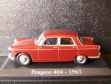 PEUGEOT 404 SALOON 1965 DARK RED RBA COLLECTABLES 1/43 BERLINE ROUGE FONCE