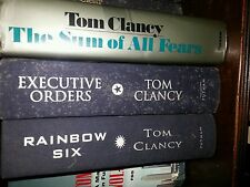 Lot of 3 Tom Clancy HB Books Rainbow Six Executive Orders Sum of All Fears