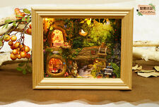 Kit Dollhouse Miniature DIY Xmas Gift Picture frame Nut Station  Puppenhaus