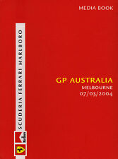 Scuderia Ferrari F1 Media Book Australian Grand Prix 2004