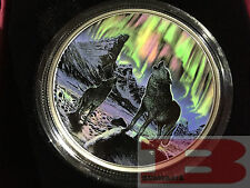 2016 $30 FINE SILVER COIN NORTHERN LIGHTS IN THE MOONLIGHT  2 Oz Fine Silver