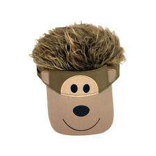 FLAIR HAIR HATS WITH HAIR KID SIZE MONKEY VISOR QUALITY PARTY WIG FUN DRESS UP