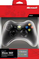 MICROSOFT XBOX 360 / PC Controller Wireless Liquid Black Pad MICROSOFT