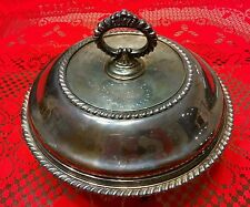 Antique SHEFFIELD Brooklyn 3 pc SILVER PLATE Covered Serving Dish - Early 20th C