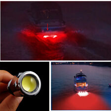 "6 LED 1/2"" NPT 9W Underwater Boat Drain Plug Light W/ Waterproof Connector Red"