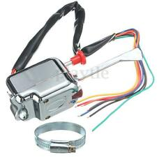 Chrome 12V Universal Street Hot Rod Turn Signal Switch For FORD BUICK GM
