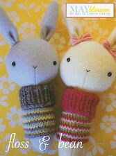 Floss & Bean Bunny Baby Rattle - Sewing Craft A6 Creative Card PATTERN - Doll