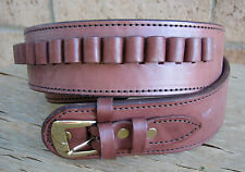 NEW! Deluxe Western Brown Genuine Leather 38/357 cal Cartridge Belt SASS Gun
