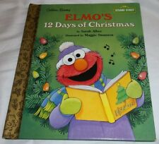 Little Golden Book Elmo's 12 Twelve Days Of Christmas Sesame Street