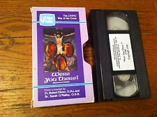 Living Way Of The Cross Were You There? VHS Video Of Value Christian Faith RARE