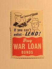 """AUSTRALIA mint WWII """"IF YOU CAN'T ENLIST - LEND"""" - Sailor - original gum - 1940s"""
