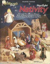 Starlight Nativity Set Plastic Canvas Pattern Book Sandra Miller-Maxfield NEW