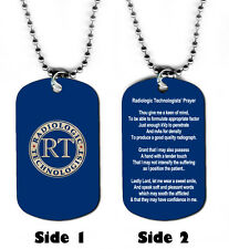DOG TAG NECKLACE - Radiologic Technologists' Prayer Medical Jesus God Radiology