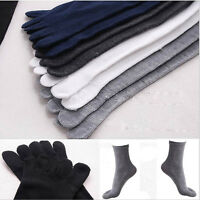 5 Pairs Cotton Absorbent Stockings Blend Soft Men's Five Fingers 5 Toe Socks