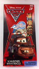Disney Pixar - Cars 2 - 14 Valentines with 14 Pencils