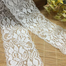 2 Yards Vintage off White Stretch Flower Lace Trim Ribbon Wedding Sewing Craft