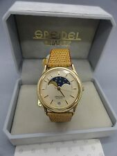 Rare New Old Stock Speidel Quartz Moon Lunar Phase Men's Or Women's Watch 7056