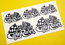 CAFE RACER Bandiera A Scacchi UNION JACK logo serbatoio & set casco adesivi