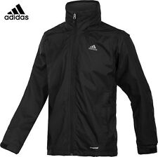 NEW ADIDAS MEN'S WANDERTAG HIKING OUTDOOR WINDBREAKER JACKET BLACK SZ/ MEDIUM