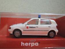Herpa 185332 VW Polo Malteser Hausnotruf in OVP aus Sammlung (3)