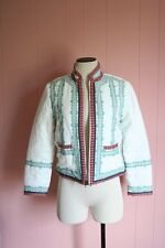 J Crew Collection Embroidered Linen Jacket Size 6 Ivory $495 NWT Bohemian