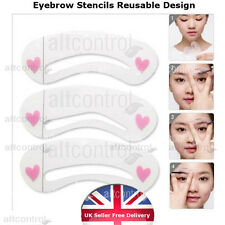 3Pcs Eyebrow Shapes Stencils Shaper Grooming Brow MakeUp Template Tool Reusable