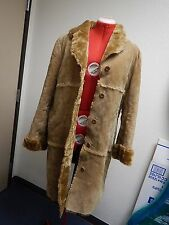 Brandon Thomas size XL Leather Full Length Coat Vintage Retro 70's Fur TF
