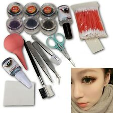 Professional Beauty Makeup False Eyelash Eye Lashes Extension Cosmetic Set Kit