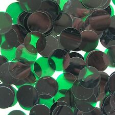 20mm Sequins Deep Green Transparent See-Thru. Made in USA