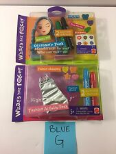 What's Her Face! Doll Lot Wig And Outfit Customizable Markers Stamps Stickers