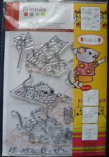 Artemio Clear Stamps Set, Pic & Lily Mice, Cute Mouse at the Beach. 11 Stamps