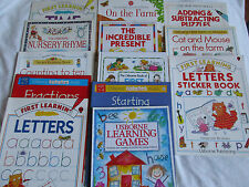 Usborne First Learning books (Letters/Math/Reading/Fun)
