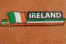 Ireland Flag Reflective Sticker, Coated Finish, Side-Kick Decal 12x2/12 Irish