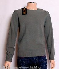 BNWT Holland Esquire HAND CUSTOMISED 100% LAMBSWOOL Crew Neck Jumper Sweater MED