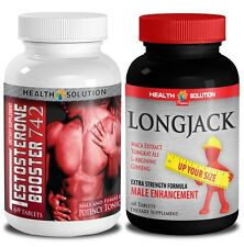 Testosterone Booster T742 + Longjack Male Enhancements. Combo 1+1 Bottle