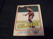 1981-82 OPC O-Pee-Chee #107 Jari Kurri Rookie Edmonton Oilers - ex+
