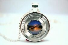 Glass Dome Cabochon Pendant Necklace Chain GOTHIC STEAMPUNK Camera Lens Design B
