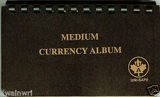 "Unisafe Currency Album - for Medium Bills 4""x7"""