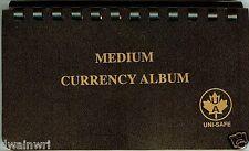 "Unisafe Currency Album - for Medium Bills 4""x7"""