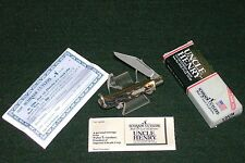 "Schrade 12UH Knife Roadie 1996 Single Blade Long Pull 2-5/8"" Staglon Handles USA"